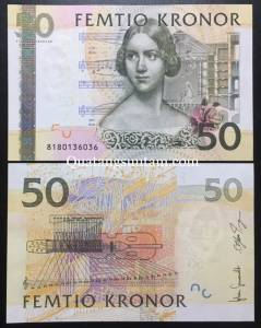Sweden Thụy Điển 50 Kronor UNC 2011