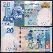 Hong Kong 20 Dollars UNC 2010