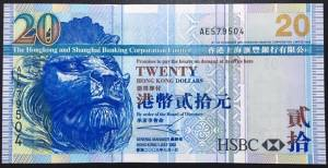Hong Kong 20 Dollars UNC 2003