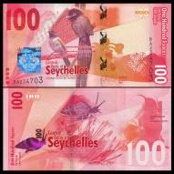 Seychelles 100 Rupees 2016 UNC