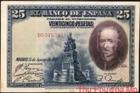 Tây Ban Nha 25 Pesatas  1928