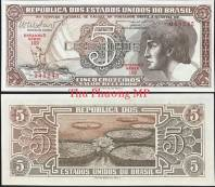 Brazil 5 Cruzeiros UNC 1961