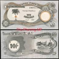Biafra 10 Shillings UNC 1969