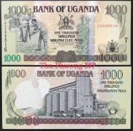 Uganda 1000 Shillings UNC 2009