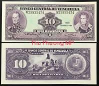 Venezuela 10 Bolivares UNC 1992
