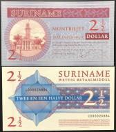 Suriname 2 1/2 Dollar UNC 2004