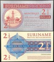 Suriname 2 1/2 Dollar UNC 2004