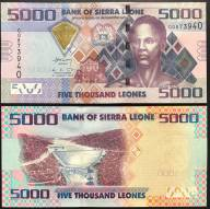 Sierra Leone 5000 Leones UNC 2013