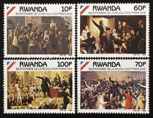 EB1.99 RWANDA - MNH - REVOLUTION FRANCE - ART - PAINTING