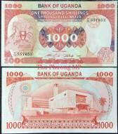 Uganda 1000 Shillings UNC 1986