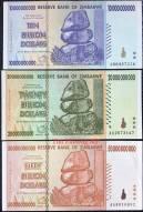 Zimbabwe 10+20+50 Tỷ Dollars AUNC 2008