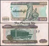 Myanmar 1000 Kyats UNC 2004