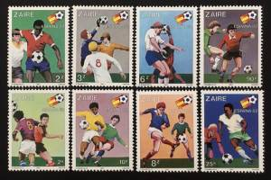 EB2.39BF Zaire World Cup Football Championship Spain 8v 1981 ** MNH SG#1067-1074