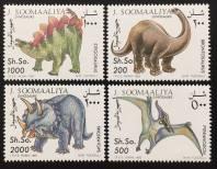 Somalia 1993 Mi#480-83 Prehistoric Animals-Dinosaurs MNH Set $14.95