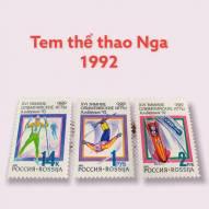 Bộ Tem Thế Giới Chủ Đề Thể Thao Nga 1992 - 3 con
