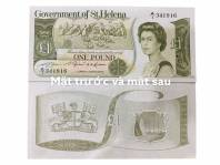 ĐẢO QUỐC HIẾM ST.HELENA BANKNOTE ONE POUND NỮ HOÀNG ELIZABETH II 1981 UNC