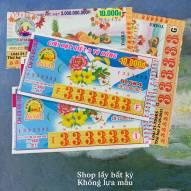 Vé Số Xưa Việt Nam Seri Đẹp 333333 Các Tỉnh (Vé Số Sưu Tầm)