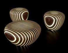 Mẫu ghế cafe phát sáng đầy ấn tượng