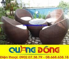 bộ bàn ghế ngoài trời cao cấp QD-211