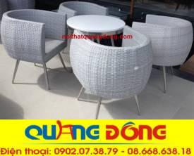 bàn ghế cafe cao cấp QD-302