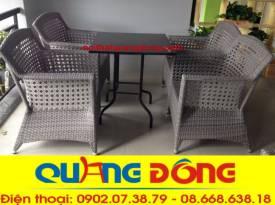 bàn ghế cafe cao cấp QD-303