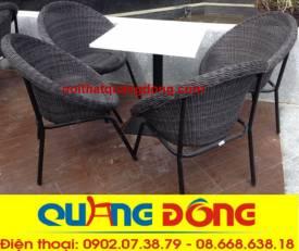 bàn ghế cafe cao cấp Qd-304