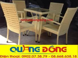 bàn ghế giả mây QD-307