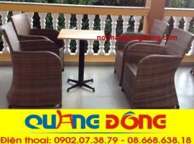 bàn ghế giả mây QD-308