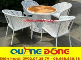 bàn ghế giả mây QD-310