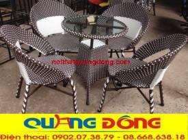 bàn ghế giả mây QD-28A