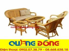 bàn ghế sofa mây tự nhiên QD-803
