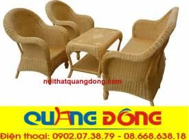 bàn ghế mây-sofa mây tự nhiên QD-807