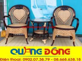 bàn ghế mây tự nhiên QD-814