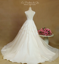 Champagne Ballgown Wedding Dress