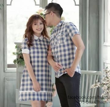 Áo đôi đẹp ở hà nội - váy thiết kế và áo sơ mi nam . Tình yêu bền vững