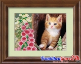 Tranh đá Chú Mèo Con D012