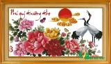HQ037- Hạc Mẫu Đơn ( Phú Quý Trường Thọ)