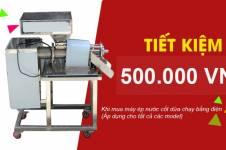 Ưu đãi đặc biệt khi mua máy ép nước cốt dừa chạy bằng điện