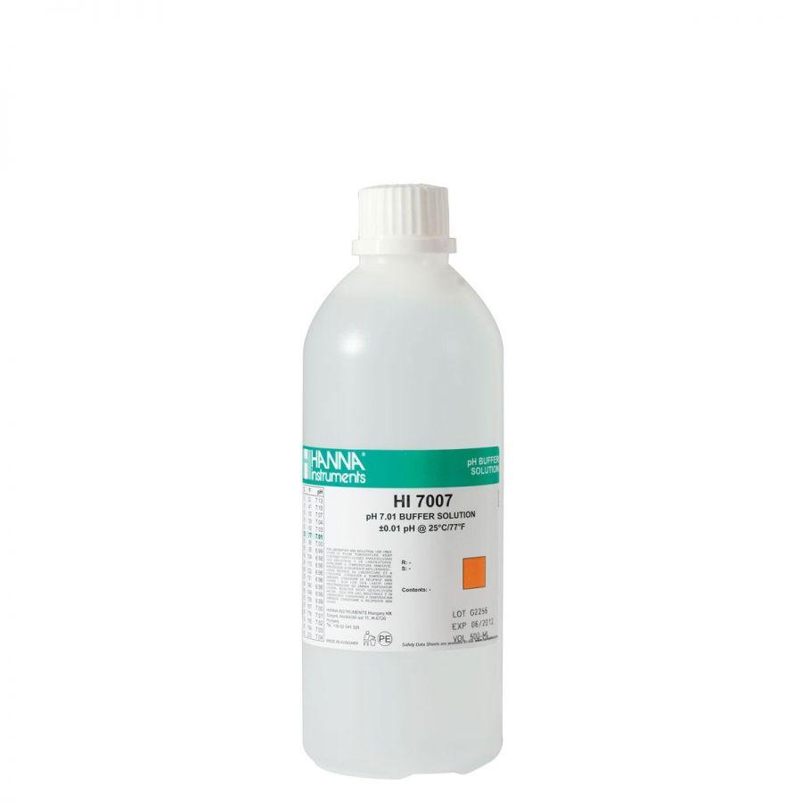 Dung Dịch Hiệu Chuẩn pH 7.01, Chai 500mL HI7007L