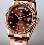 Đồng hồ nam cao cấp Rolex day-date rose gold RL889