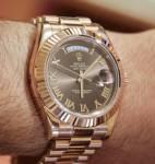 Đồng hồ nam cao cấp Rolex day-date rose gold RL779 Automatic ( Tặng kèm kính rayban)