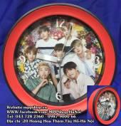 Đồng hồ báo thức để bàn + treo tường BTS