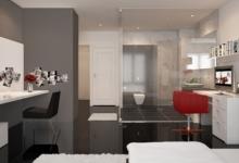 Không gian nội thất đẹp với hai tông màu chủ đạo đen và trắng