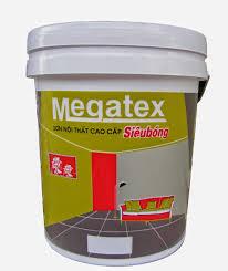 Sơn MEGATEX Siêu Bóng Trong Nhà 18Lit