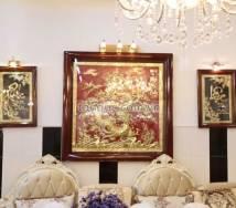 5 mẫu tranh đồng treo tường chung cư Tuyệt đẹp mang lại vượng khí