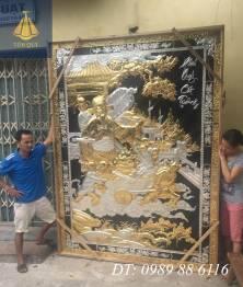 Tranh đồng phú quý cát tường mạ vàng 24k