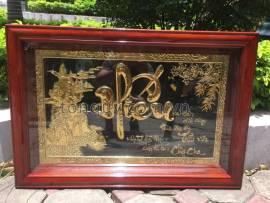Tranh chữ hiếu mạ vàng 24k
