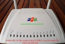 Giải Pháp Chống Nhảy IP Modem Capble Quang G-93RG1