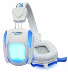 Tai nghe chuyên game soundmax Ah-312 có đèn (Trắng xanh)