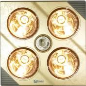Đèn sưởi nhà tắm kottmann 4 bóng treo tường dòng vàng